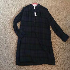 Ann Taylor Loft Plaid Shift Dress